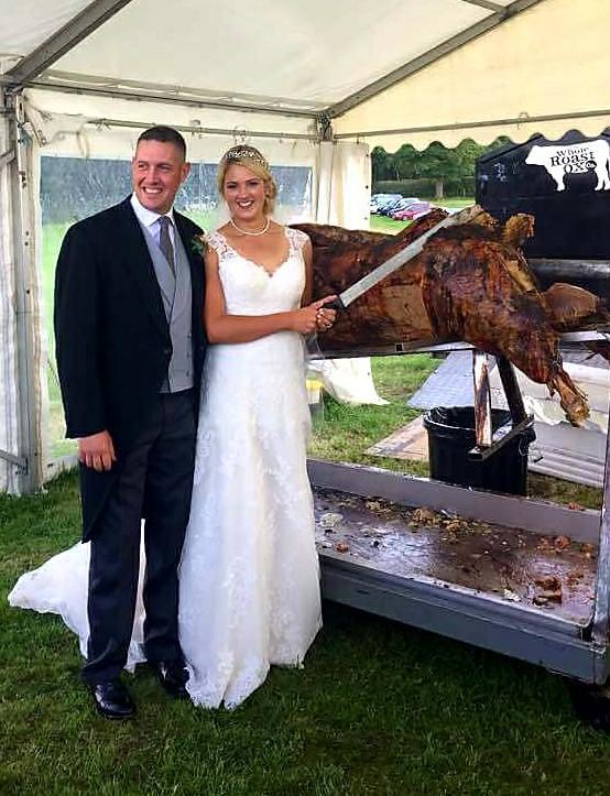 ox roast wedding food