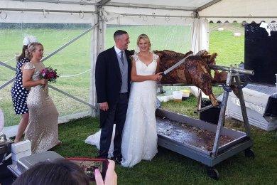 ox roast wedding